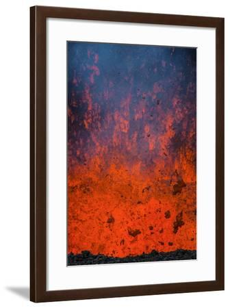 Active Lava Eruption on the Tolbachik Volcano, Kamchatka, Russia, Eurasia-Michael-Framed Photographic Print