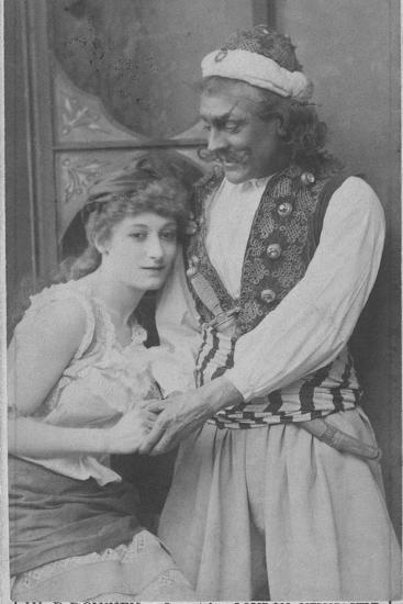 Actor and Actress in Ali Baba and the Forty Thieves--Photographic Print