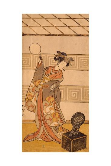 Actor Arashi Sangoro II in Female Part-Katsukawa Shunsho-Giclee Print