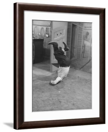 Actor Buster Keaton in a Scene from a TV Program-Loomis Dean-Framed Premium Photographic Print