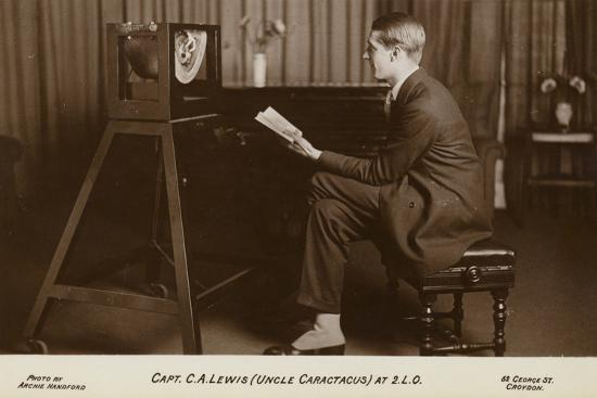 Actor Captain C a Lewis Who Played Uncle Caractacus in Children's Hour at a Recording--Photographic Print