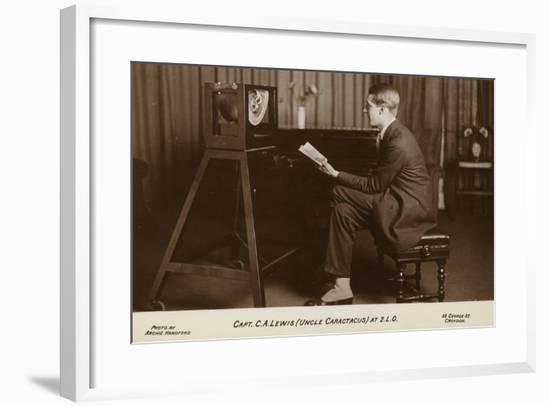 Actor Captain C a Lewis Who Played Uncle Caractacus in Children's Hour at a Recording--Framed Photographic Print