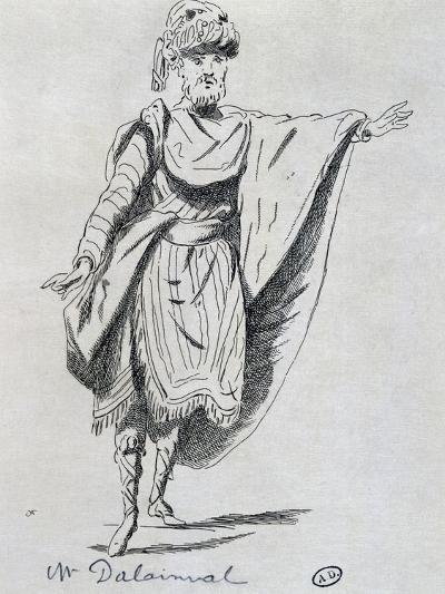 Actor Dalainval in Role of Nawab in Athalie-Jean Racine-Giclee Print