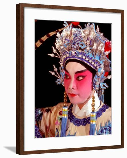 Actor from Yiu Ming, Cantonese Opera Group, Hong Kong, China-Russell Gordon-Framed Photographic Print