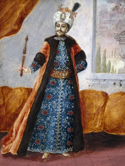 Actor in Oriental Costume in Role of Suleiman, Character from Opera Comique by Charles Simon Favart--Giclee Print