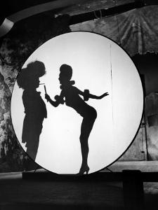 """Actress Carole Landis Performing the Flame Dance Sequence for the Movie """"Scandal in Paris"""""""