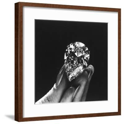 Actress Elizabeth Taylor Displaying Her Diamonds, Bought from Cartiers-Yale Joel-Framed Premium Photographic Print