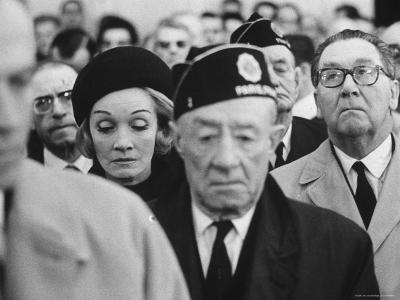 Actress Marlene Dietrich, at Memorial Service for John F. Kennedy, Headquarters of American Legion-Ralph Crane-Premium Photographic Print