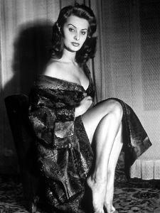 Actress Sophia Loren in 1957