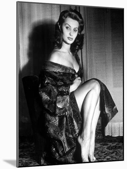 Actress Sophia Loren in 1957--Mounted Photo