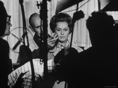 """Actress Tippi Hedren Testing for Hitchcock's New Movie, """"Marnie,"""" at Universal Studios-John Dominis-Premium Photographic Print"""