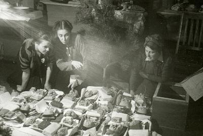 Actresses of the Moscow Art Theatre Preparing Presents for the Red Army, USSR, 1943--Giclee Print