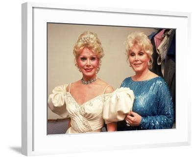 'Actresses/Sisters Eva and Zsa Zsa Gabor' Premium Photographic Print - David Mcgough   Art.com