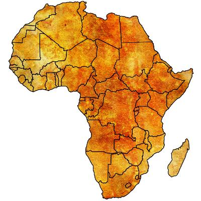 Actual Map of Africa-michal812-Art Print