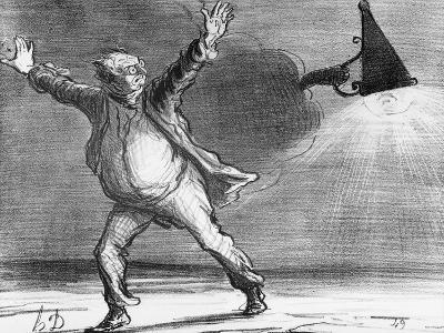 Actualites, the Comet from Monsieur Babinet Shuts Down the Sun, Le Charivari, 1857-Honore Daumier-Giclee Print