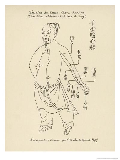 Acupuncture the Meridian of the Heart-Tchenn Tsiou Ta-tcheng-Giclee Print