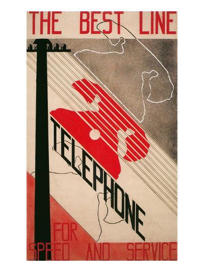 Ad for Best Line Telephone--Art Print