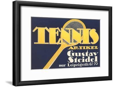Ad for German Tennis Equipment