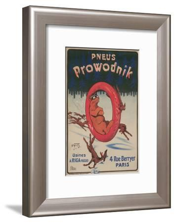 Ad for Prowodnik Tires--Framed Art Print