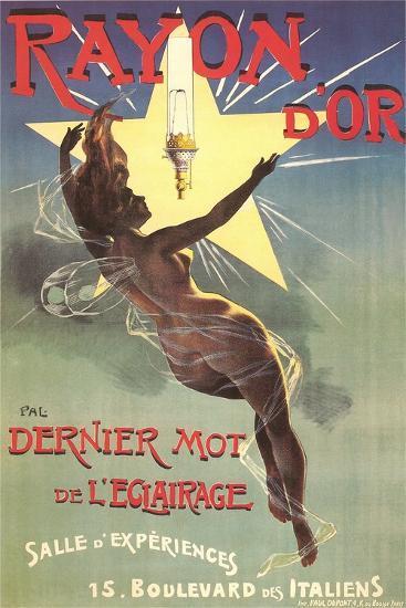 Ad for Rayon D'Or Lighting--Art Print