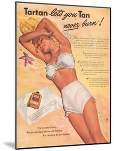 Ad for Sun Tan Lotion
