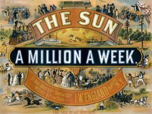 Ad for the New York Sun, a Weekly Newspaper, c.1880