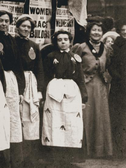 Ada Flatman, British suffragette, at a demonstration she organised in Liverpool, 1909-Unknown-Photographic Print