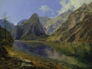 The Koenigssee with Watzmann, 1837 by Adalbert Stifter