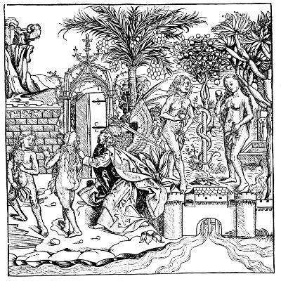 Adam and Eve, 1493--Giclee Print