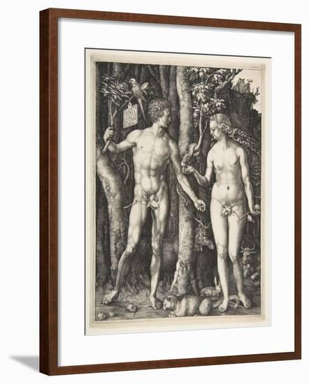 Adam and Eve, 1504-Albrecht Dürer or Duerer-Framed Giclee Print