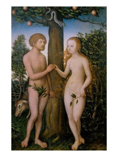 Adam and Eve, 1530-Lucas Cranach the Elder-Giclee Print