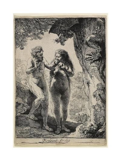 Adam and Eve, 1638-1658-Rembrandt van Rijn-Giclee Print