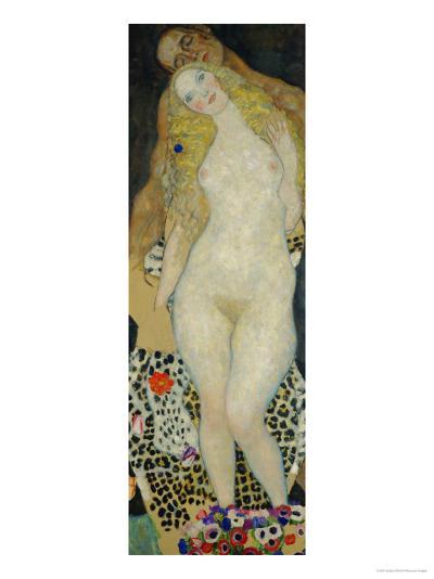 Adam and Eve, 1917-Gustav Klimt-Giclee Print