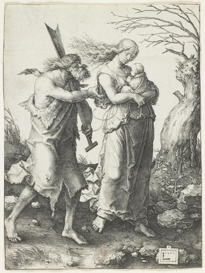 Adam and Eve after their Expulsion from Paradise, 1510-Lucas van Leyden-Giclee Print
