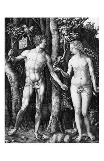 Adam and Eve, c.1504-Albrecht D?rer-Art Print