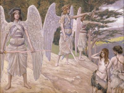 Adam and Eve Driven from Paradise, 1896-1902-James Jacques Joseph Tissot-Giclee Print