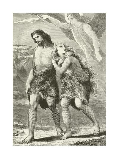 Adam and Eve Driven Out of Eden--Giclee Print