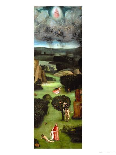 Adam and Eve, Expulsion from Paradise, Left Wing of the Triptych of the Last Judgment-Hieronymus Bosch-Giclee Print