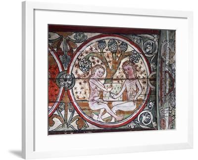 Adam and Eve in Garden of Eden--Framed Giclee Print