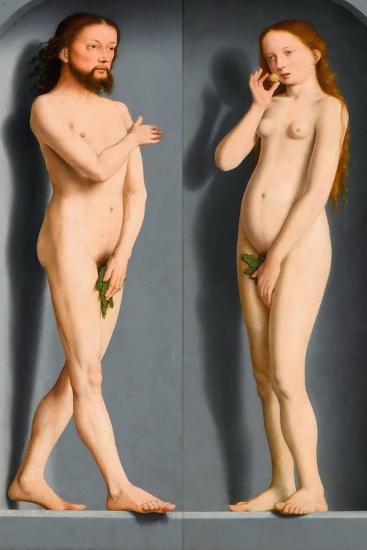 Adam and Eve (Sedano Family Triptych, Exterior Panel)-Gerard David-Giclee Print