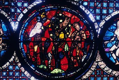 Adam and Eve (The Fall of Ma), Stained Glass, Chartres Cathedral, France, 1194-1260--Photographic Print