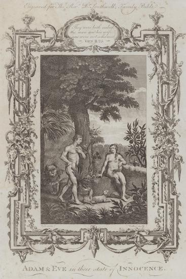 Adam and Eve, the Garden of Eden--Giclee Print