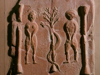 Adam and Eve, Tunisia, 5th Century--Photographic Print