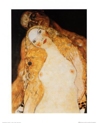 Adam and Eve-Gustav Klimt-Art Print