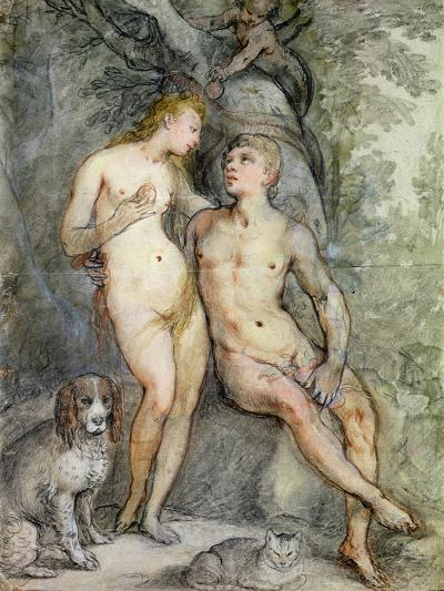 Adam and Eve-Hendrik Goltzius-Giclee Print