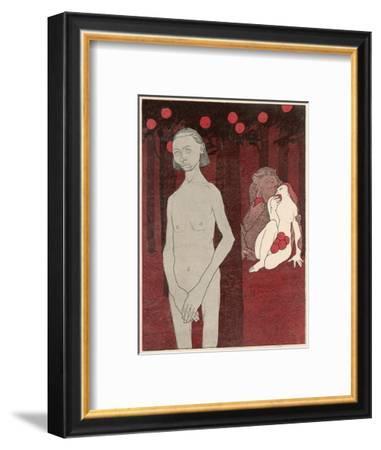 Adam and Eve--Framed Giclee Print