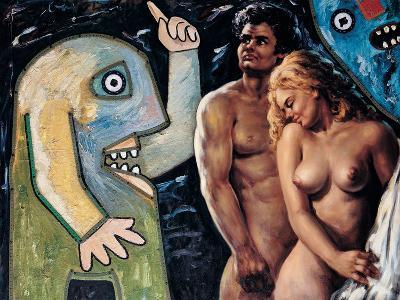 Adam and Eve-Baj Enrico-Giclee Print