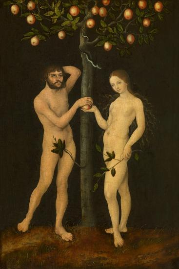 Adam and Eve-Lucas Cranach the Elder-Giclee Print