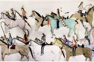 Sioux Warriors at Custer's Last Stand, 1876 by Adam Bad Heart Buffalo