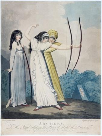 Archers, Engraved by J.H. Wright (Fl.1795-1838) and Conrad Ziegler, 1799 (Aquatint)